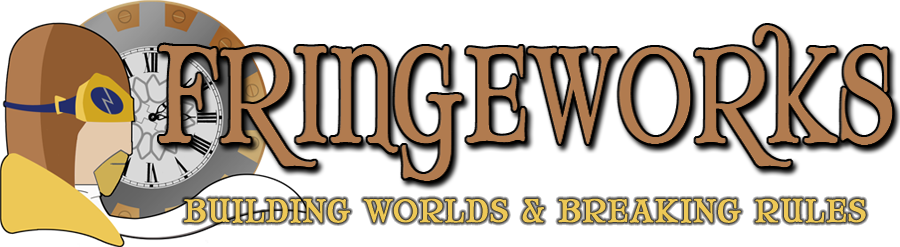 Fringeworks - Building Worlds and Breaking Rules - logo graphic